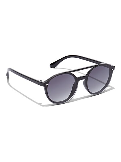 Black Round Sunglasses - New York & Company