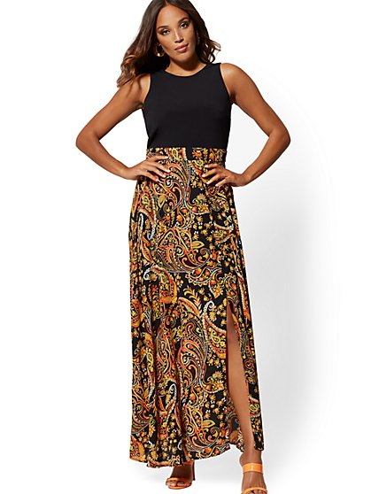 Black Sleeveless Maxi Dress - New York & Company