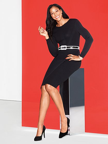 Black Sweater Dress - Gabrielle Union Collection - New York & Company