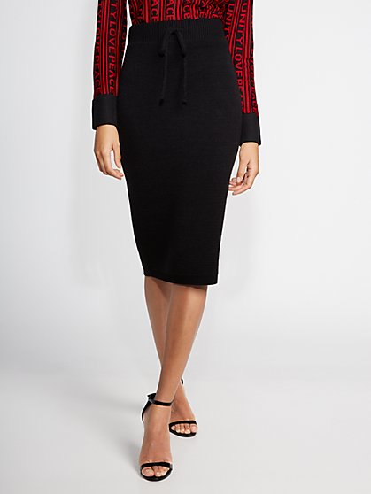 Black Sweater Skirt - Gabrielle Union Collection - New York & Company