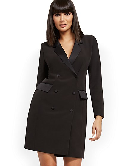 Black Tuxedo Dress - Gabrielle Union Collection - New York & Company