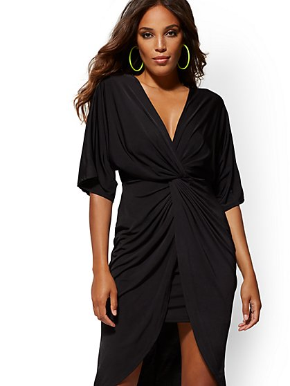 Black Twist-Front Sheath Dress - Soho Street - New York & Company