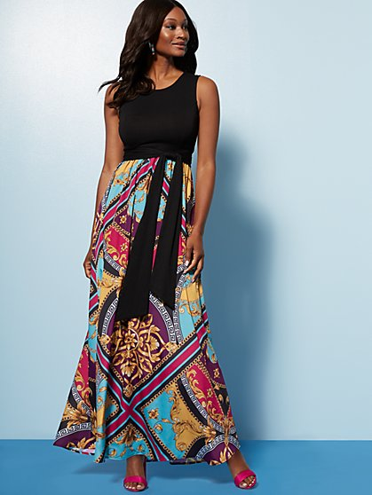 b99abbcc3 Black Twofer Maxi Dress - New York & Company ...