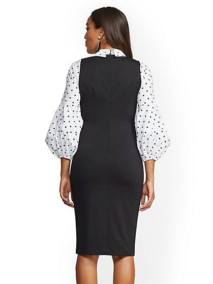 96189d19e80 ... Black Twofer Sheath Dress - 7th Avenue - New York   Company ...