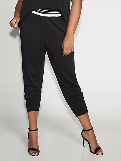 Black & White Jogger Pant - Gabrielle Union Collection - New York & Company