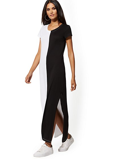 Black & White Maxi Dress - Soho Street - New York & Company