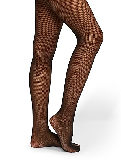 Black Wide-Knit Fishnet Tights - New York & Company