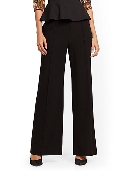 Black Wide-Leg Pant - 7th Avenue - New York & Company