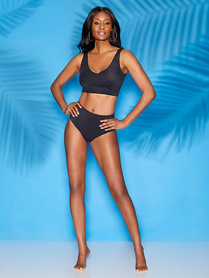 Blake Black V-Neck Bikini Top - Sweet Pea Swimwear - New York & Company