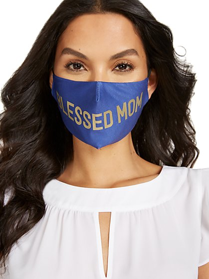 Blessed Mom Face Mask - New York & Company