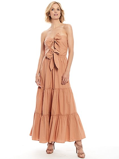 Bliss Double-Bow Maxi Dress - New York & Company