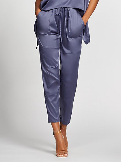 Blue Drawstring Jogger Pant - Gabrielle Union Collection - New York & Company