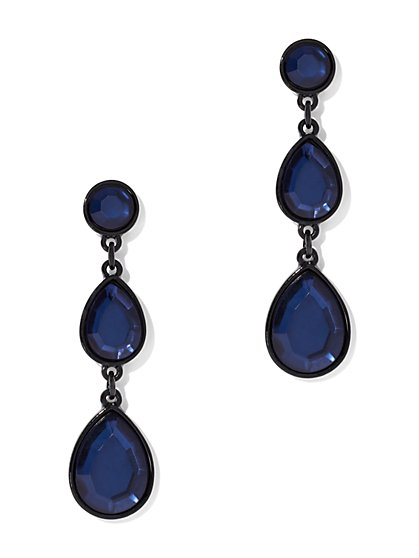 Blue Linear Teardrop Earring - New York & Company
