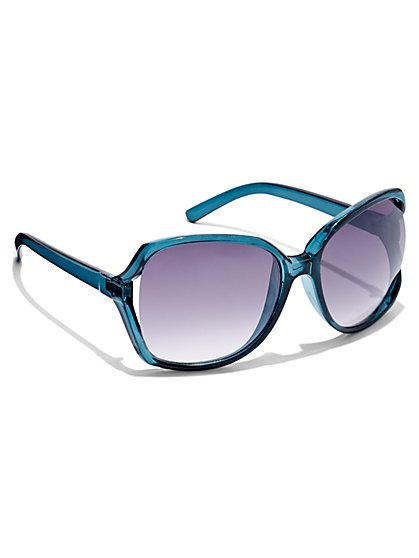 Blue Square Sunglasses - New York & Company