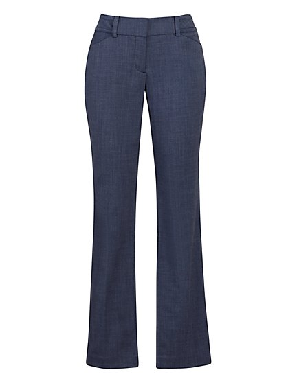 Blue Straight Leg Pant - Signature Fit - 7th Avenue - New York & Company
