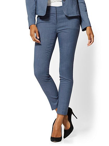 Blue Structured Ankle Pant - 7th Avenue - New York & Company