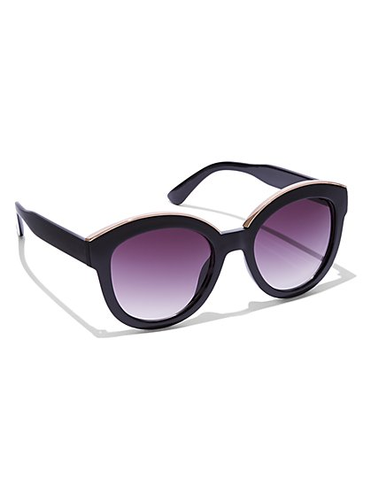 Blush-Hued Cat-Eye Sunglasses - New York & Company