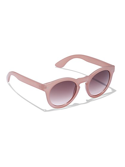Blush Round Sunglasses - New York & Company
