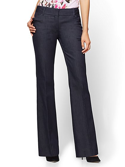 Bootcut Pant - Modern Fit - Hidden Blue - 7th Avenue - New York & Company