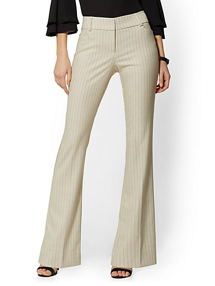 Bootcut Pant - Modern Fit - Pinstripe - 7th Avenue - New York & Company
