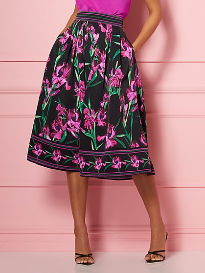 Border-Print Maddie Skirt - Eva Mendes Party Collection - New York & Company