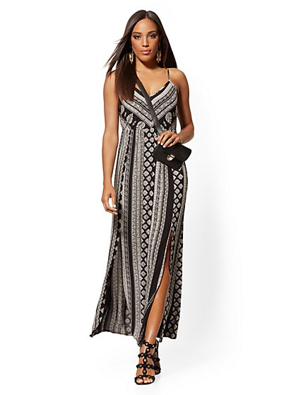 Border-Print Maxi Dress - New York & Company