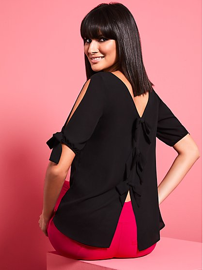 Bow-Back Blouse - Sweet Pea - New York & Company