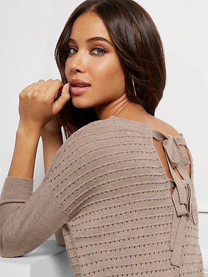 Bow-Back Tunic Sweater - New York & Company