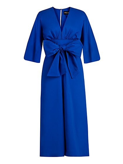 Bow-Front Jumpsuit - Gabrielle Union Collection - New York & Company