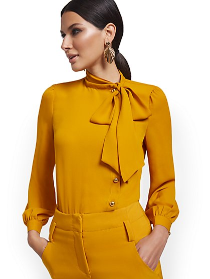 Bow-Neck Blouse - New York & Company