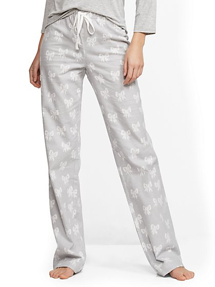 Bow-Print Pajamas - New York & Company