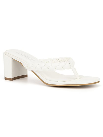 Braid-Strap Heel Sandal - New York & Company