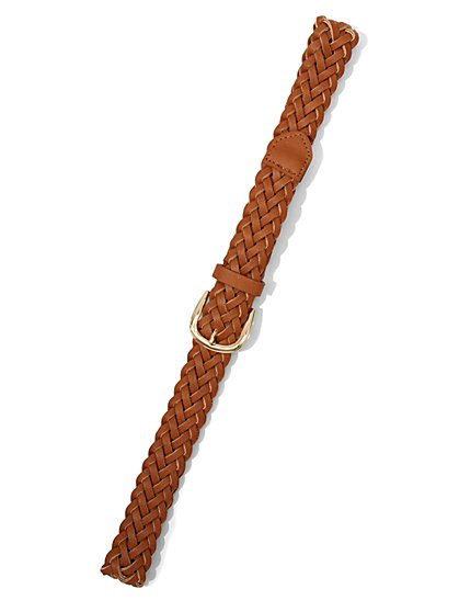 Braided Faux-Leather Belt - New York & Company