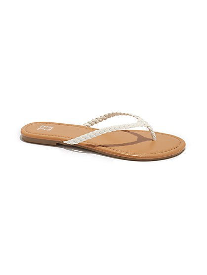 Braided Flip-Flop Sandal - New York & Company