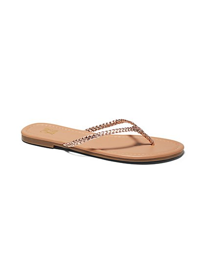 Braided Thong Flip-Flop Sandal - New York & Company