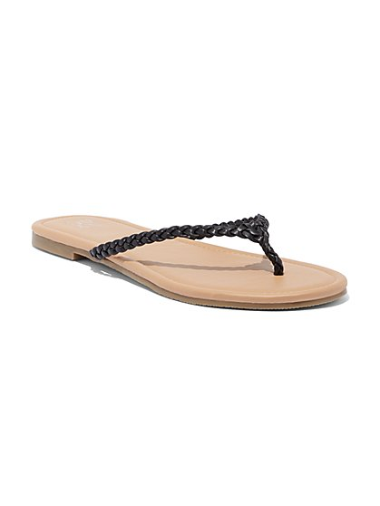 Braided Thong Sandal - New York & Company