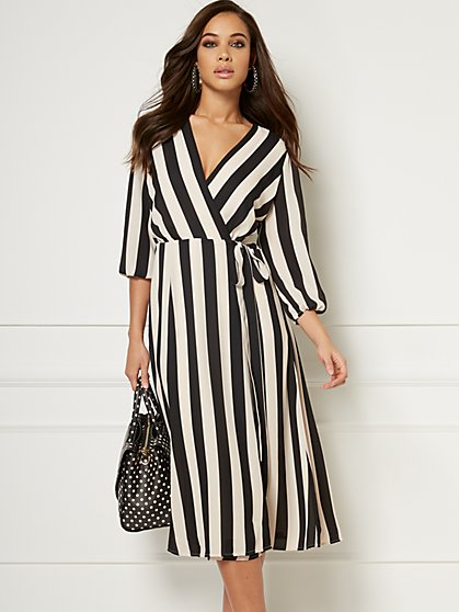 Brenda Stripe Dress - Eva Mendes Collection - New York & Company