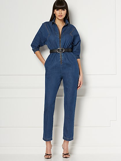 Brooklyn Denim Jumpsuit - Eva Mendes Collection - New York & Company