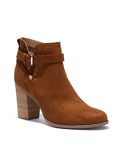 Buckle-Accent Bootie - New York & Company