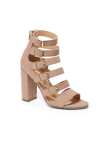 9806684207a40 Buckle-Accent Strappy Sandal - New York   Company ...