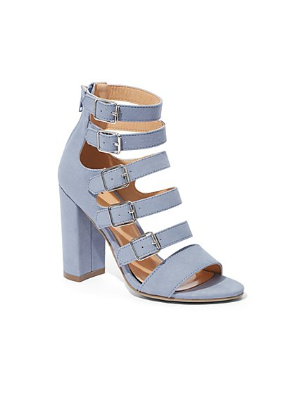 Buckle-Accent Strappy Sandal - New York & Company