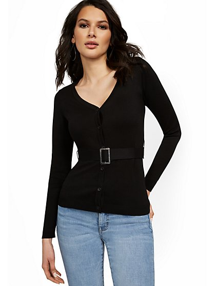 Buckle-Front Cardigan - New York & Company