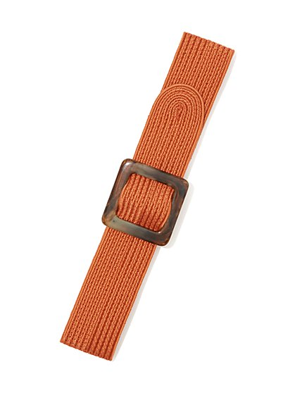 Buckled Woven Belt - New York & Company