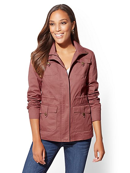Button-Accent Anorak Jacket - New York & Company