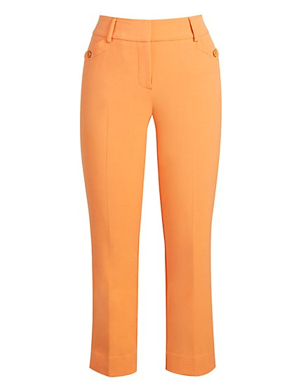 Button-Accent Capri Pant - Modern Fit - Double Stretch - New York & Company