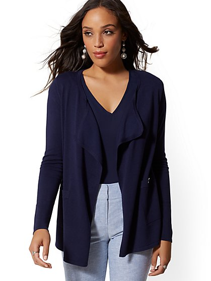 dd7576f1330 Button-Accent Flyaway Cardigan - New York   Company ...