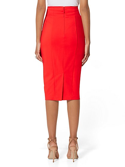 f0f7d5d0e9c ... Button-Accent Pencil Skirt - All-Season Stretch - 7th Avenue - New York