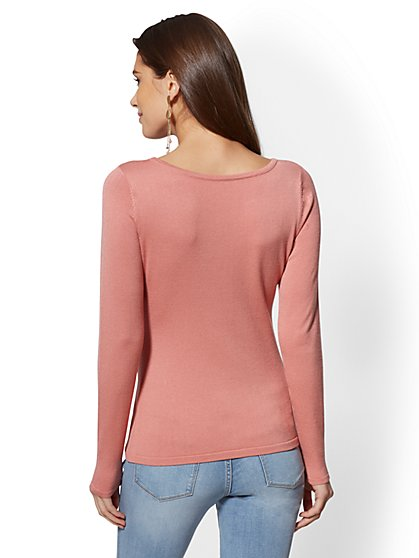 f99bf77827 ... Button-Accent Sweater - New York   Company ...