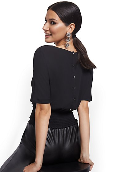Button-Back Top - New York & Company