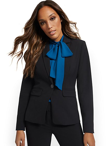 Button-Front Blazer - New York & Company